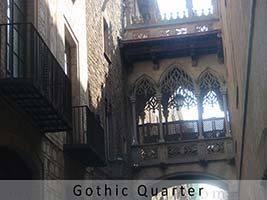 Barcelona gothic district