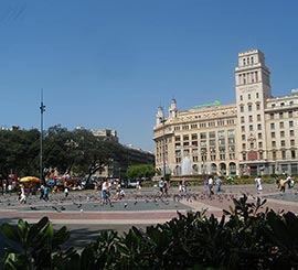 Barcelone place de Catalogne
