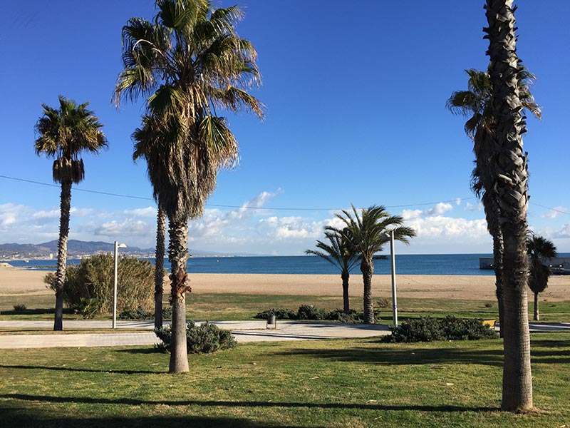 Barcelone plage Sant Adria