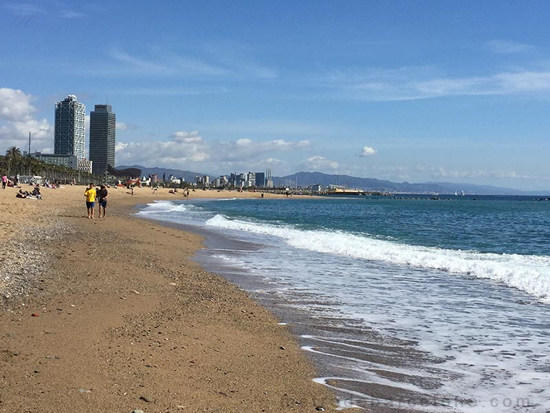 plages de Barcelone en photos