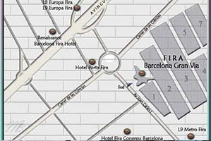 plan fira Gran Via Barcelone